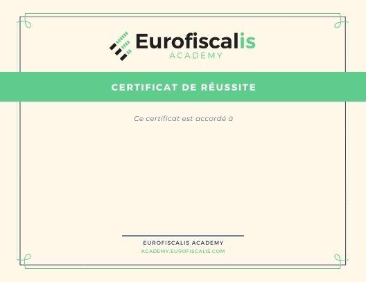 certificat eurofiscalis academy